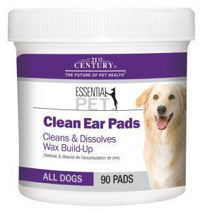 21st century essential pet clean ear pads for dogs