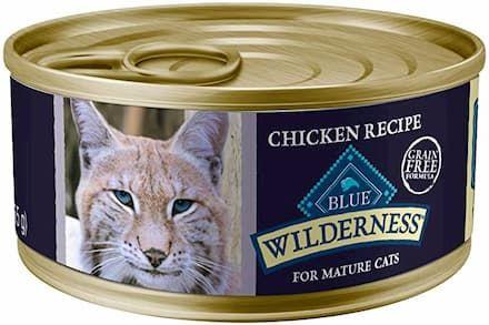 Blue Buffalo Wilderness Grain Free Mature Recipe Canned Cat Food