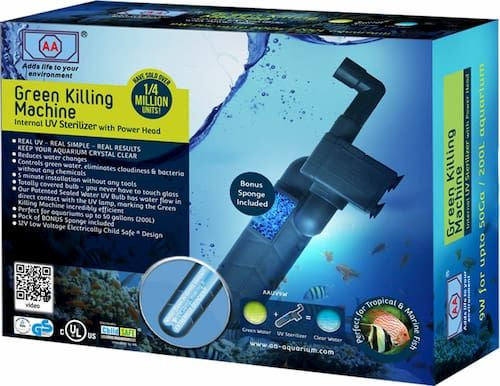 aa aquarium green killing machine internal uv sterilizer