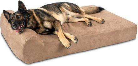 big barkerheadrest orthopedic pillow dog bed