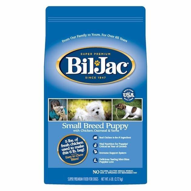 bil jac small breed puppy dry dog food