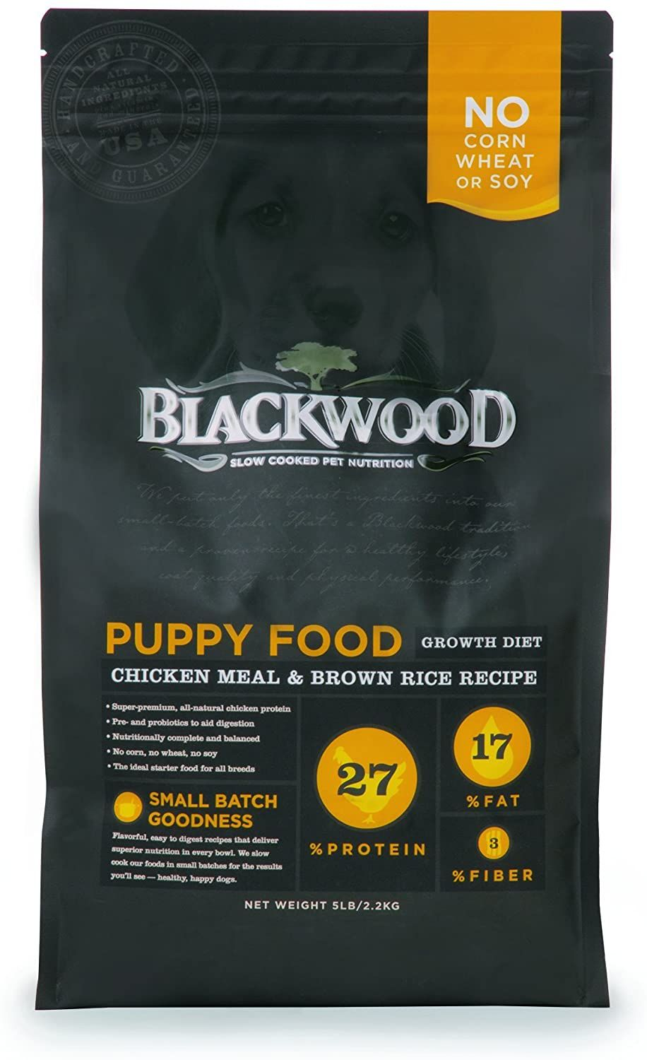 blackwood puppy food growth diet chicken meal brown rice recipe