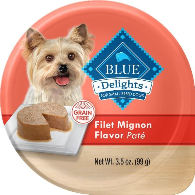blue buffalo blue diving delights for small breed dogs filet mignon