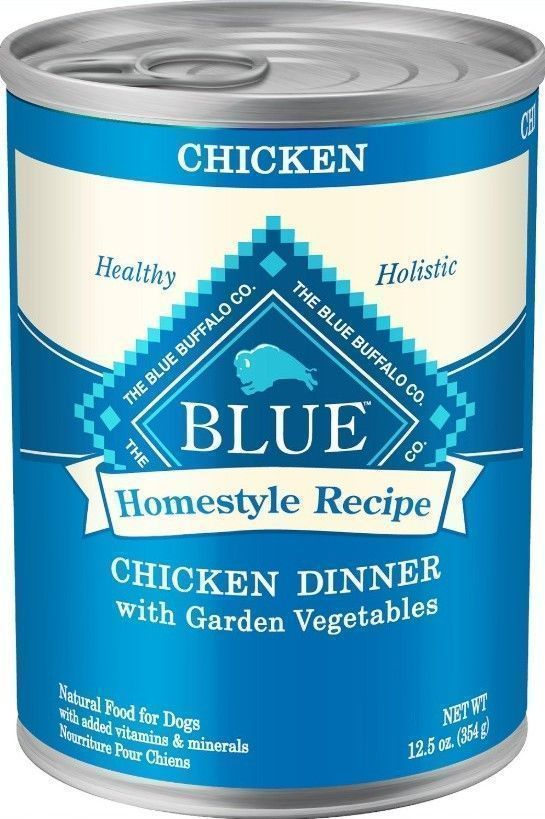 blue buffalo homestyle recipe dinner canned dog food chicken and vegetables
