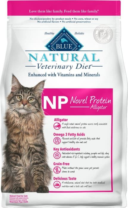 blue buffalo natural veterinary diet novel protein-alligator grain-free dry cat food