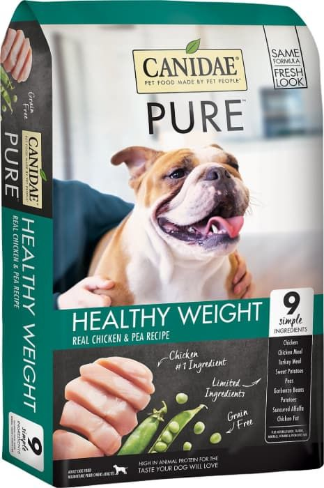 canidae grain-free pure healthy weight real chicken and pea recipe dry dog food