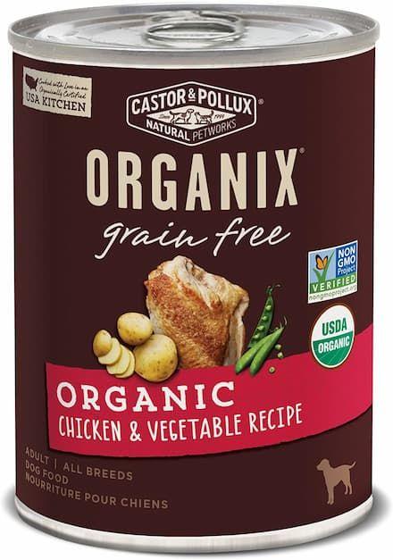 castor pollux organix chicken and vegetable recipe