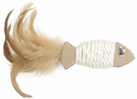catit ecocat sisal fish cat toy