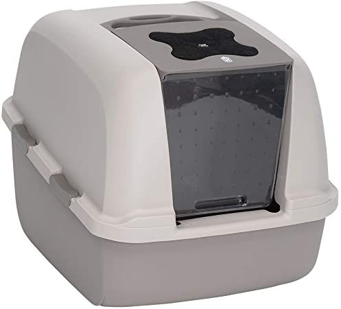 catit jumbo hooded cat litter box