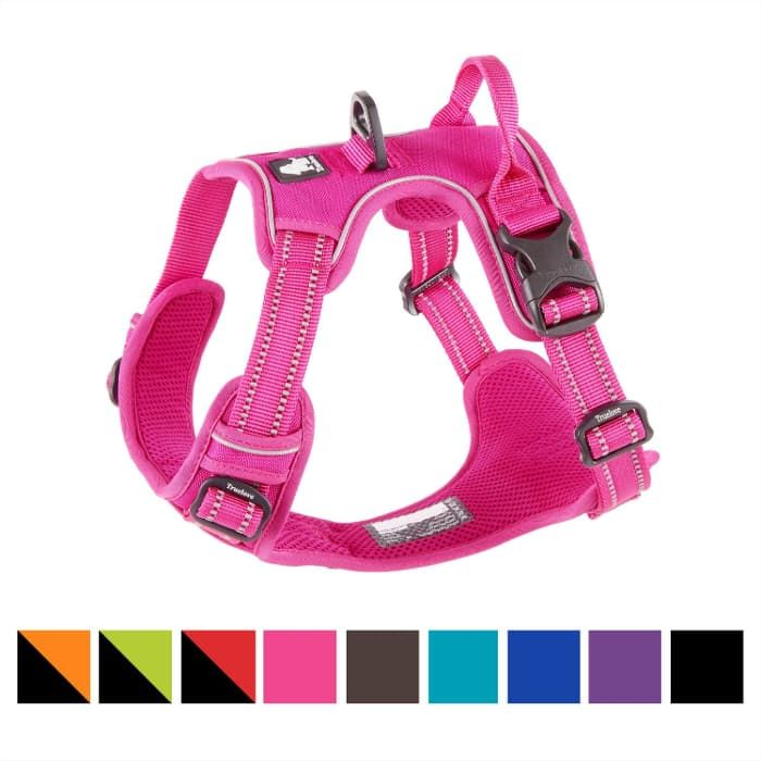 chais choice polyester reflective front clip dog harness
