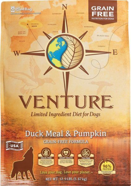 earthborn holistic venture duck meal and pumpkin grain-free dry dog food