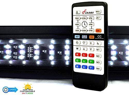 finnex planted 24 for 7 led klc aquarium light automated full spectrum fish tank light