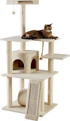 frisco 62-in cat tree and condo