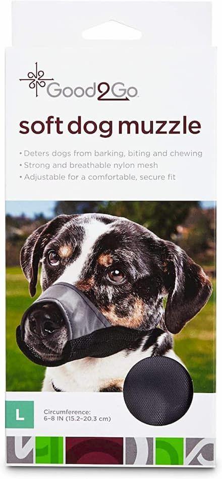 good2go nylon and mesh dog muzzle
