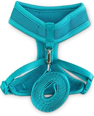 good2go teal cat harness and leash set