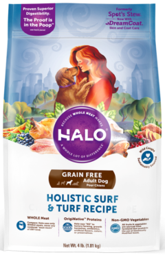halo holistic surf and turf grain free adult dry dog food