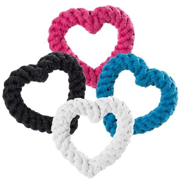heart-shaped rope toy