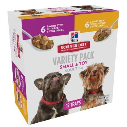 hill science diet adult small paws variety pack