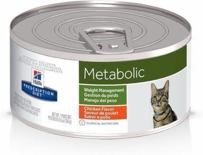 hills prescription diet metabolic weight management chicken flavor canned cat food