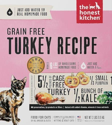 honest kitchen grain-free turkey recipe dehydrated cat food