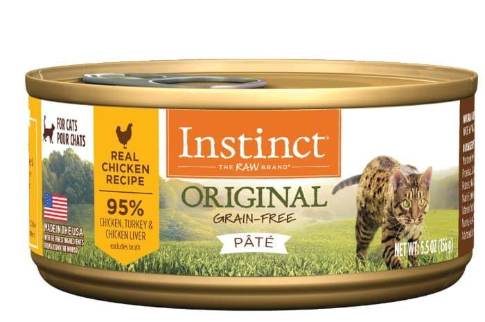 instinct grain-free wet cat food pate chicken
