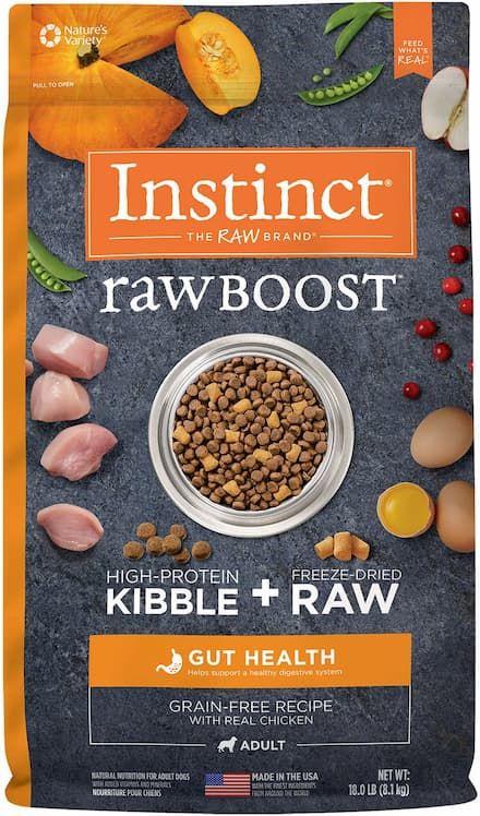 instinct raw boost gut health dry dog food