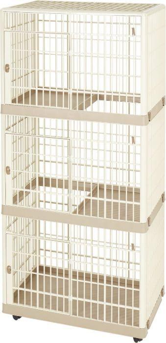 iris 3-tier plastic cat cage playpen