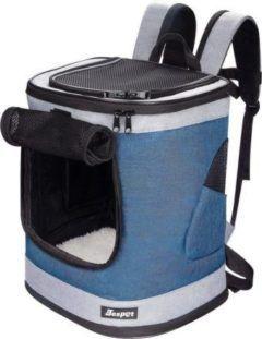 jespet dog cat carrier backpack dark blue 17-in