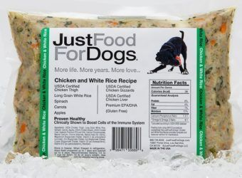justfoodfordogs daily diets chicken and white rice frozen dog food