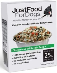 justfoodfordogs pantry fresh chicken and white rice tetra pak dog food