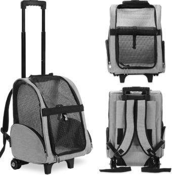 kopeks deluxe travel airline-approved dog cat carrier backpack