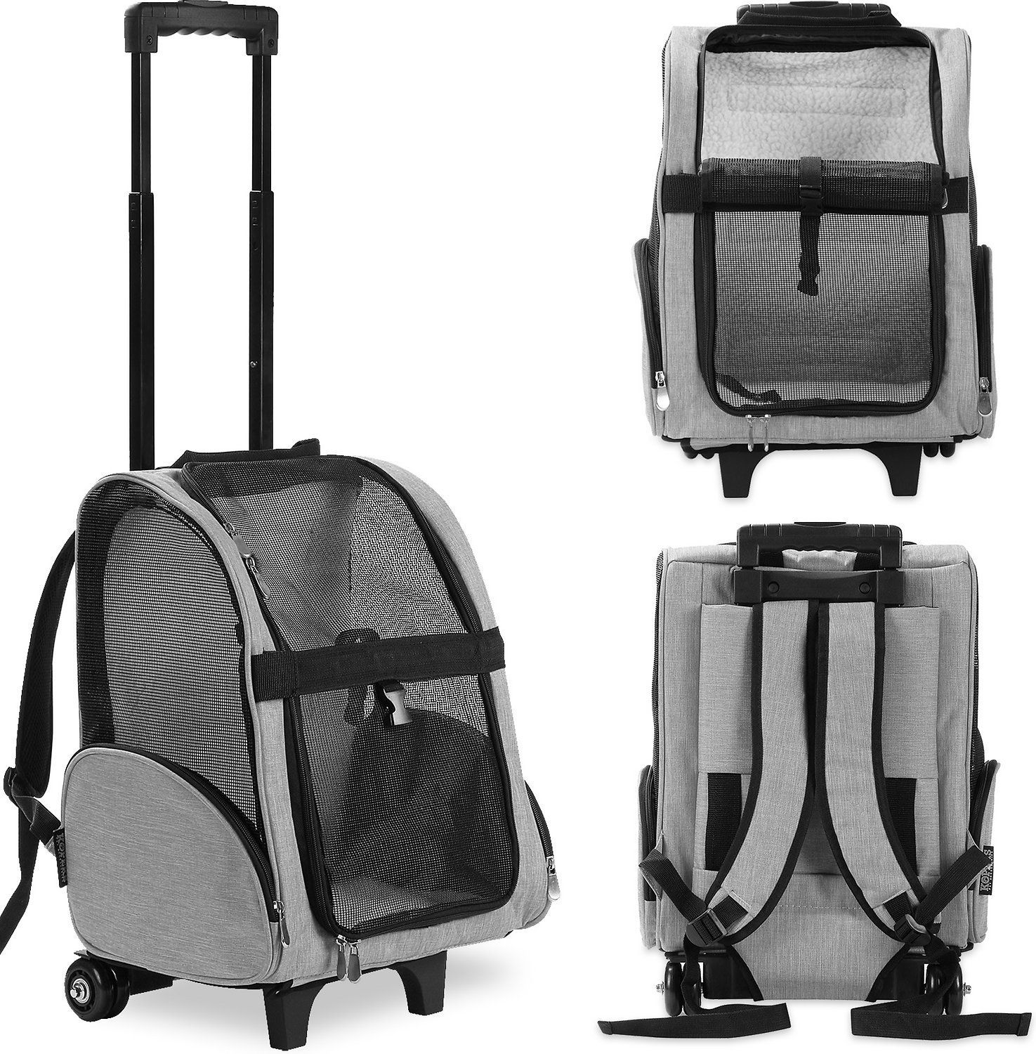kopeks deluxe travel airline-approved dog cat carrier backpack