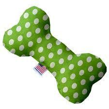 lime green swiss dots 8-inch bone toy