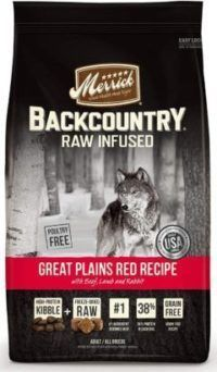merrick backcountry freeze-dried raw great plains red recipe with beef lamb and rabbit grain-free dry dog food