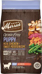 merrick grain free dry dog food puppy recipe