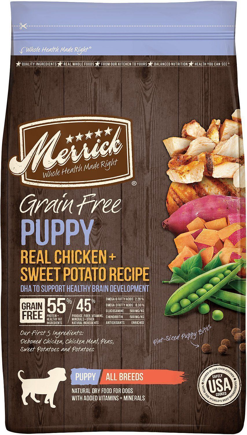 merrick grain free dry dog food puppy recipe
