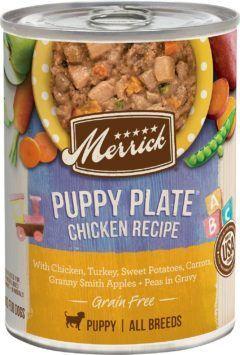 merrick grain free puppy plate wet puppy food