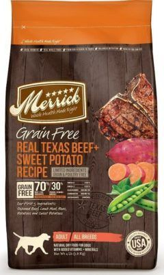 merrick grain free real texas beef sweet potato dry dog food
