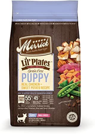 merrick lil plates grainfree real chicken and sweet potato puppy dry dog food