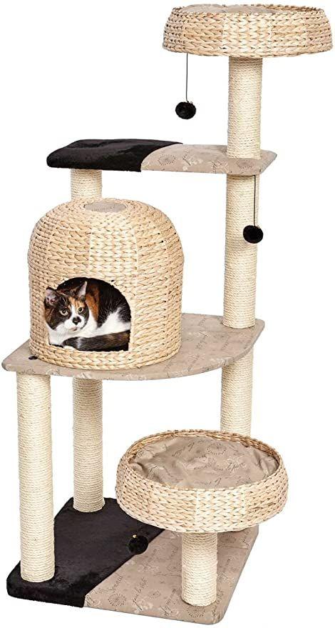 midwest feline wicker cat tree and condo