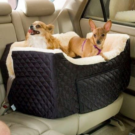 muttropolis sherpa lined dog carseat with storage drawer