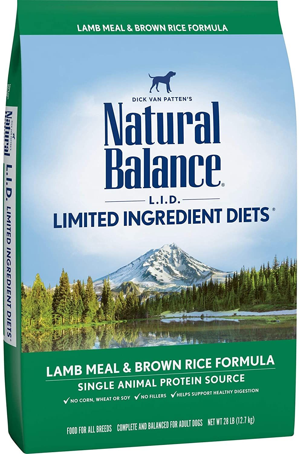 natural balance limited ingredient diets dry dog food with grains lamb meal and brown rice formula