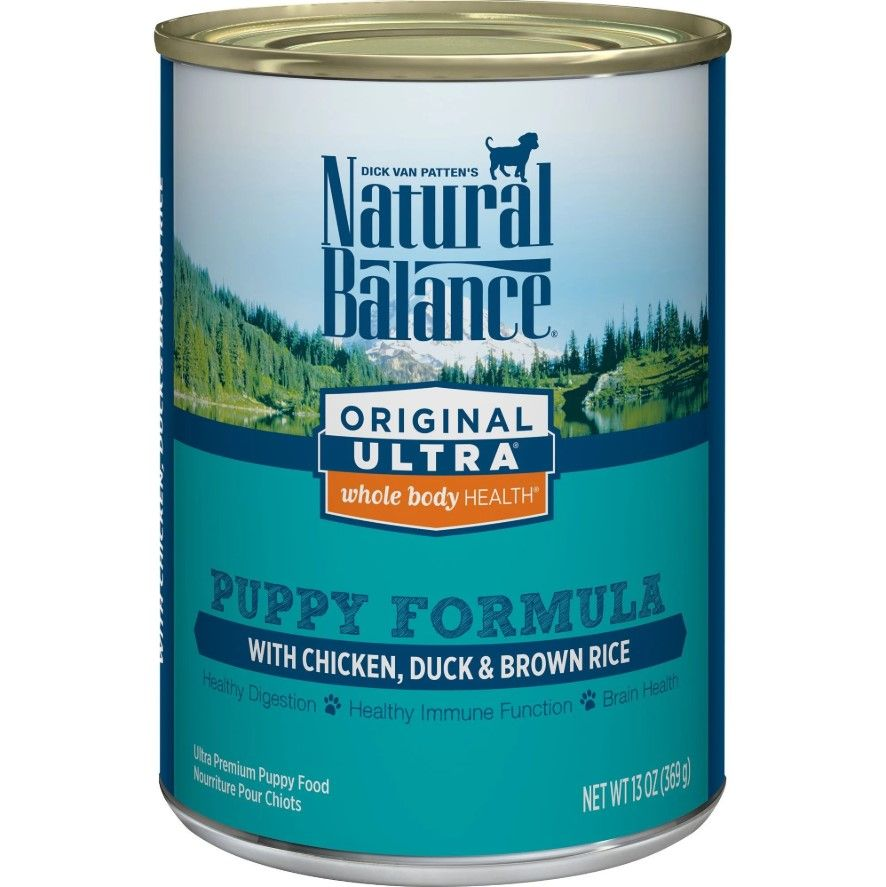 natural balance puppy formula original ultra whole body health chicken duck and brown rice wet dog food