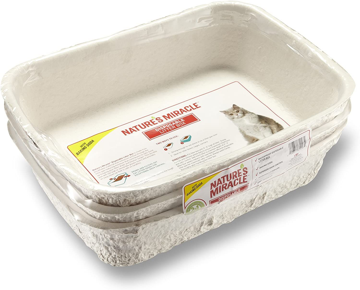 natures miracle disposable cat litter box