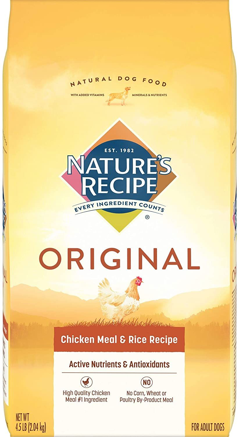 natures recipe adult chicken meal rice recipe dry dog food