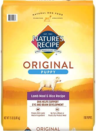 natures recipe dry puppy food lamb and rice