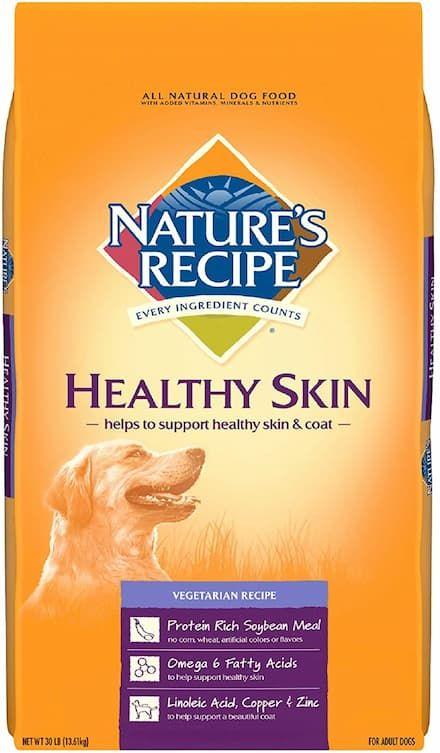 natures recipe healthy skin vegetarian recipe adult dog food
