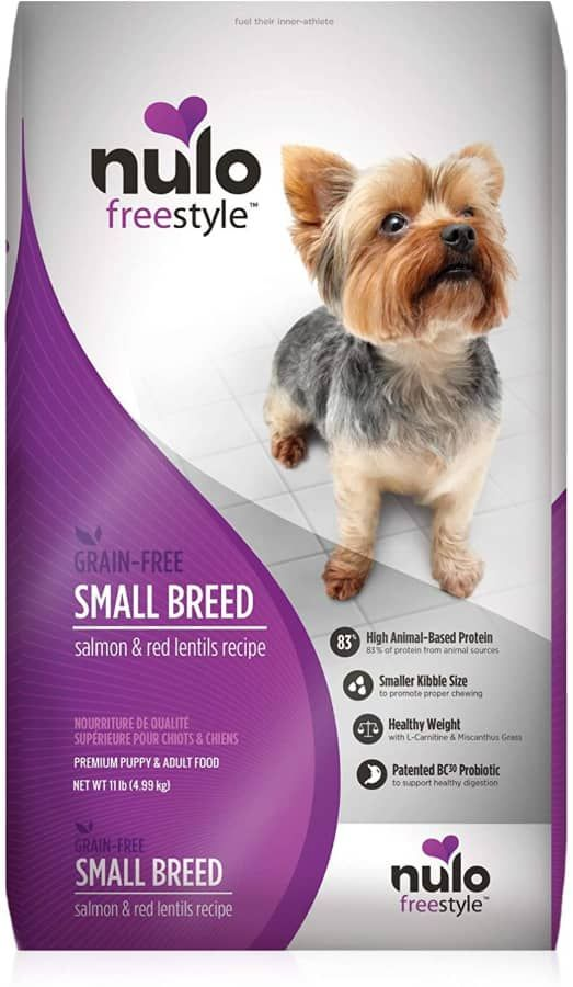 nulo small breed dry dog food grain free small size kibble