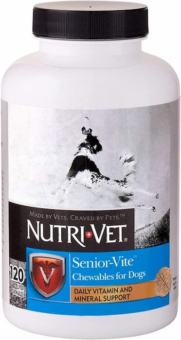 nutri vet multi vite chewables for senior dogs