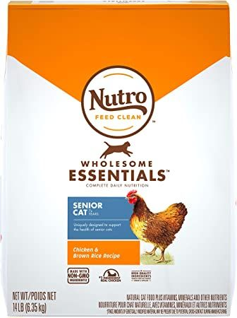 nutro wholesome essentials adult and senior dry cat food chicken